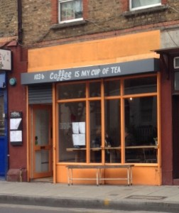 exterior coffee is my cup of tea, cimcot, coffee Hackney