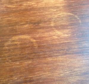 table detail, inside Estate Office Coffee