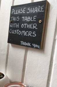 message inside Continental Stores