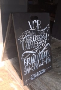 VCR chalkboard