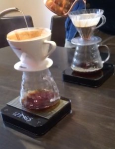 Pour overs at Amoret