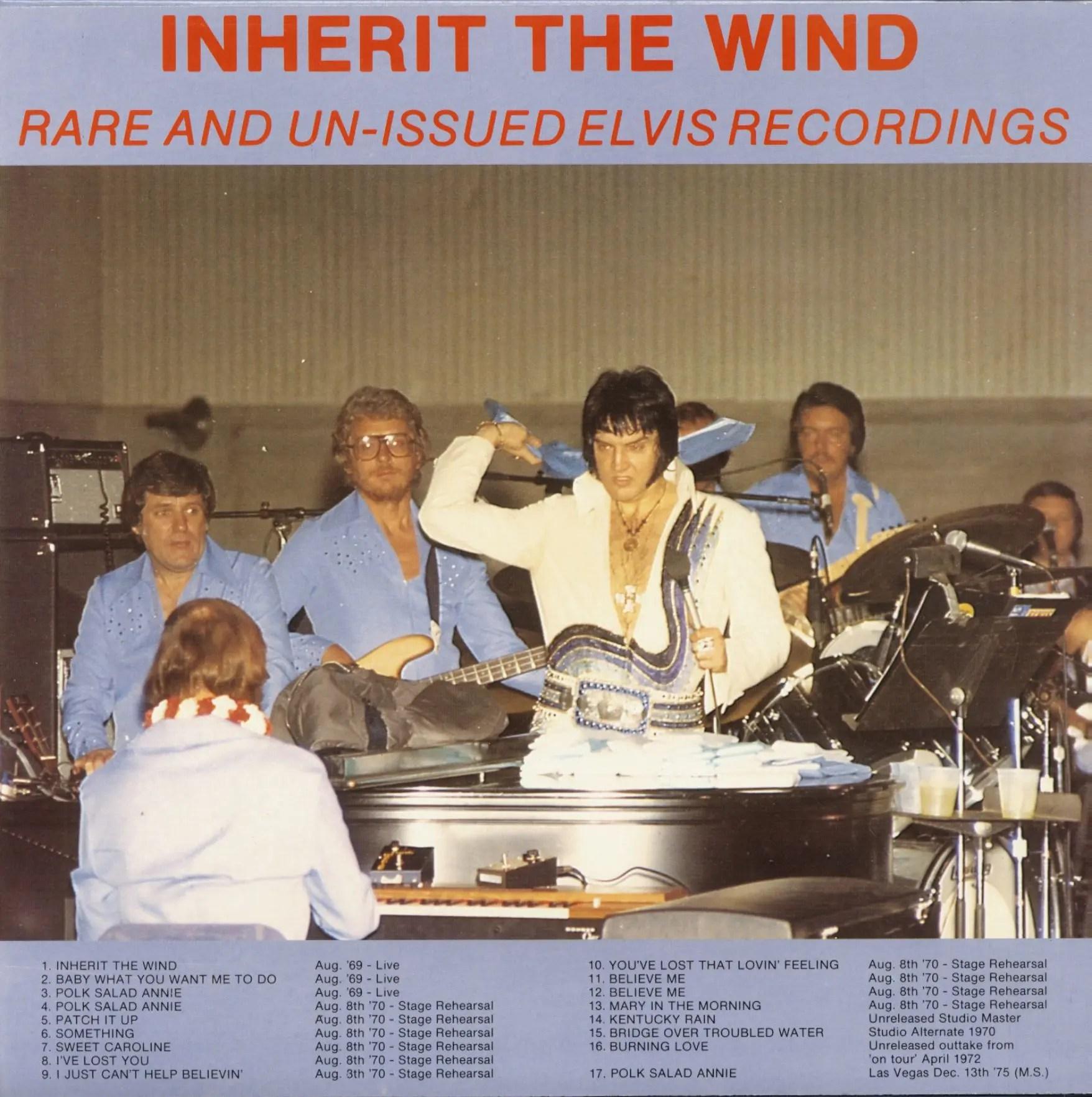 Elvis Presley Lp Inherit The Wind Lp