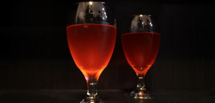 Chilled Dragon's Blood, an adult-ready punch for your next Halloween party! BearandBugEats.com