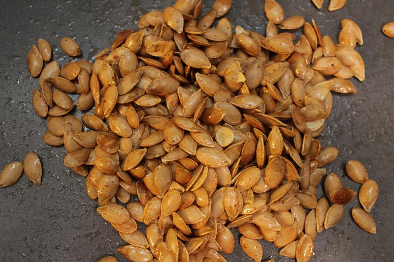 Savory Roasted Squash Seeds for #FabulousFallBounty