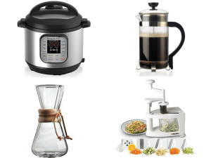 A 2017 Gift Guide: Kitchen edition! Whether your loved one likes gadgets, books, or everything kitchen, there's something here for everyone! | gift guide | christmas | trendy kitchen | BearandBugEats.com