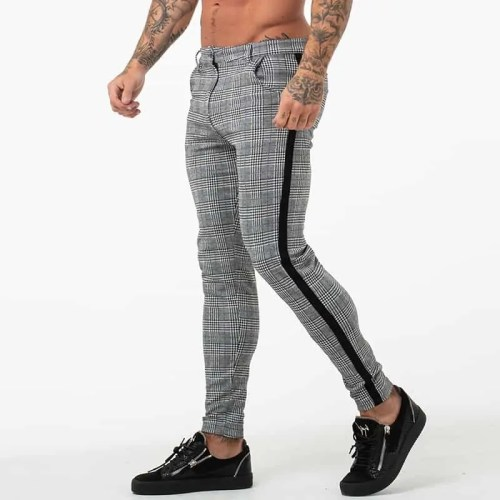 Bearboxers Mens Cotton Plaid Casual Pants - Bearboxers Menswear