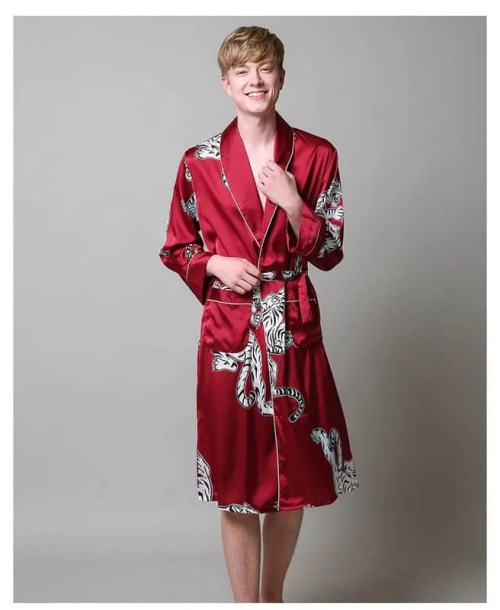 Men's Silk Satin Robe - £40.99