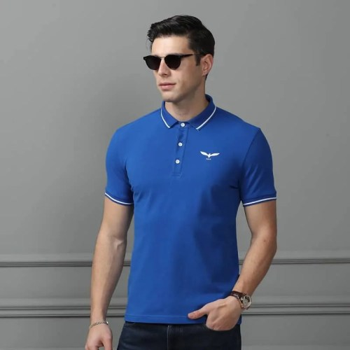 Men's Short Sleeve Embroidered Golf Polo