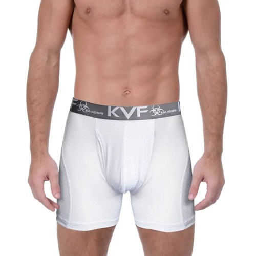 Mesh Mid Waist Mens Sport Long Boxer Brief