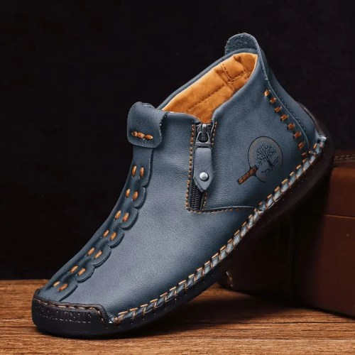 Hand Stitching Leather Non-slip Ankle Shoes MAN