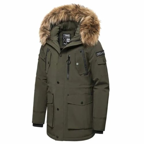 Faux Fur Hooded Winter Parka - MAN