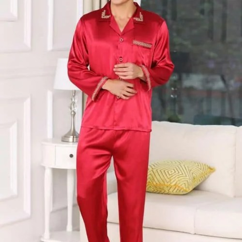 Luxury Silk Satin Nightwear Pyjama Set