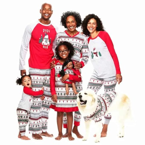Whole Family Pyjama Set Mama Papa Children