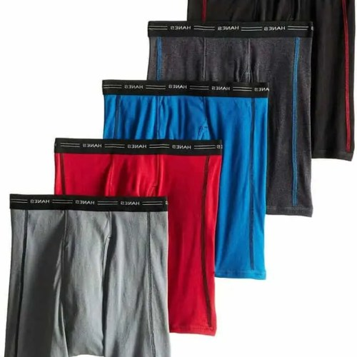 Hanes Men's 5-Pack Sports-Inspired Boxer Brief,, Assorted Color, Size Medium