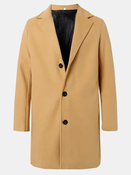 Bearboxers Single-Breasted Mid-Length Business Trench Coats