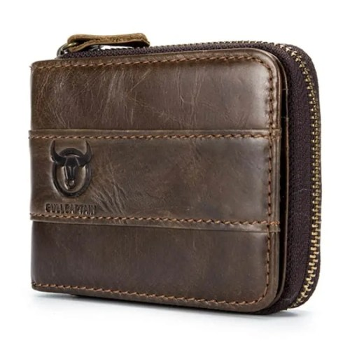 Bull Captain RFID Antimagnetic Vintage Genuine Leather Wallet