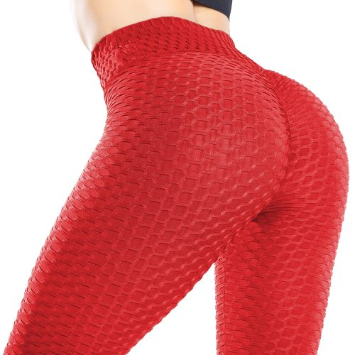 KIWI RATA Yoga Pants Women Honeycomb High Waist Ruched Butt Lifting Scrunch Booty Leggings Workout Tights Running Yoga Pants