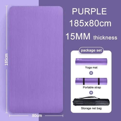 Extra Thick NBR High Quality Exercise Sport Yoga Mat For Home Fitness