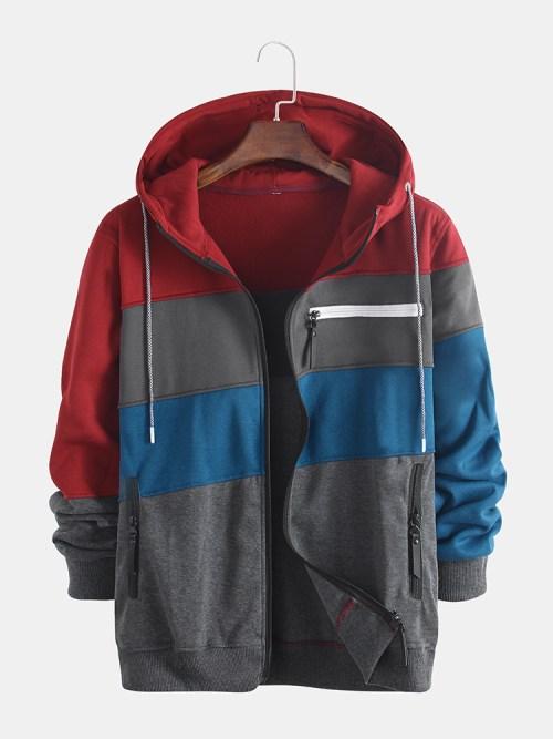 Bearboxers Men's Jacquard Hooded Sweatshirt