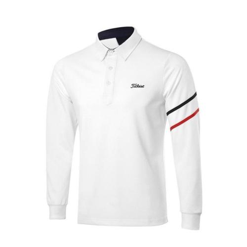 Men's T-shirt Autumn Sports Golf Apparel Long Sleeve Shirt Breathable Quick Dry Polo-shirt for Men