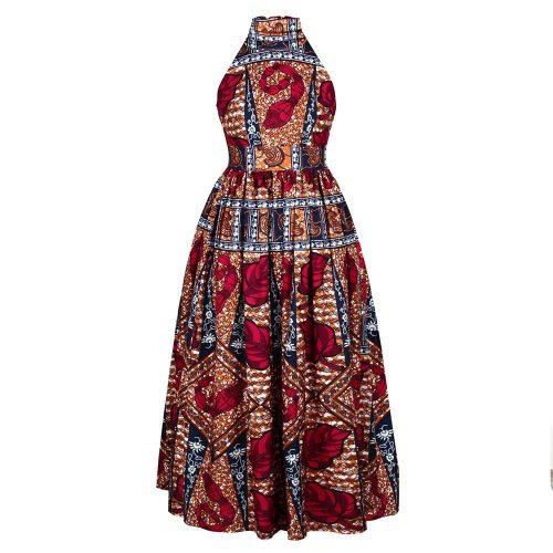 MD African Print Ankara Dashiki Dress