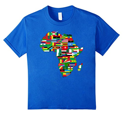 Map of Africa Countries Flag T-shirt