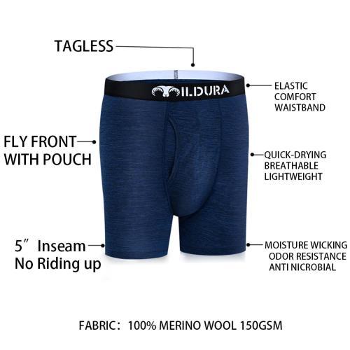 100% Merino Wool Men Underwear Mens Boxer Underpants