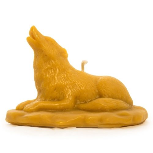 Lying Wolf Beeswax Candle
