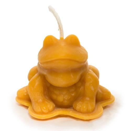 Frog Beeswax Candle