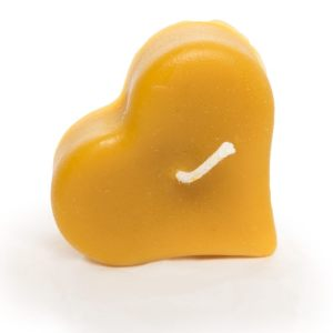 Floating Heart Beeswax Candle
