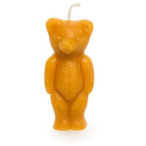 Teddy Bear Beeswax Candle