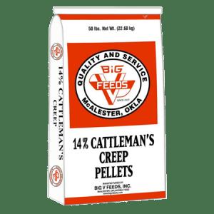 Big V 14 .Cattleman Creep Pellets