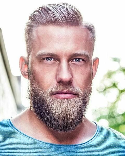 ducktail beard style for men