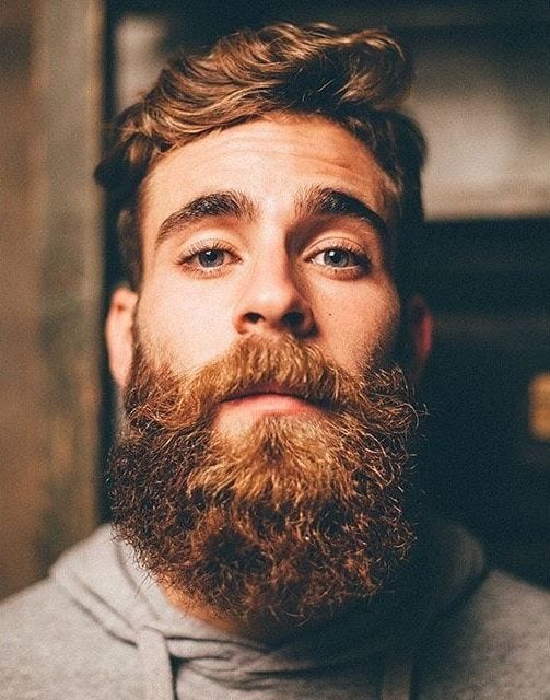 groomed bearded look