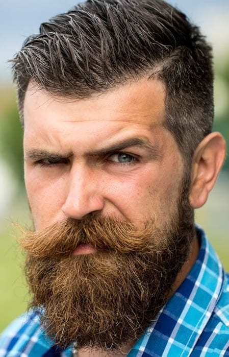 Balbo Beard Style With a Shaped Mustache