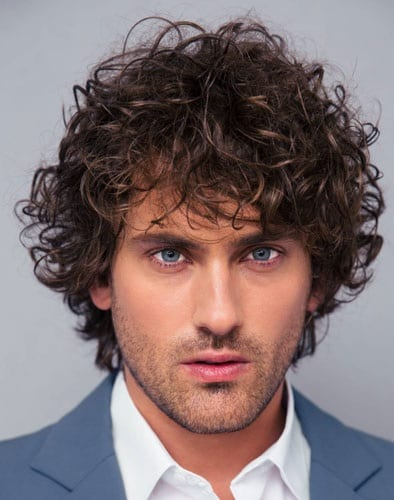 Best Curly Hairstyle With Beard ideas for men