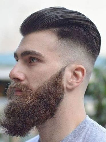 Best Ducktail Thick Beard style for men