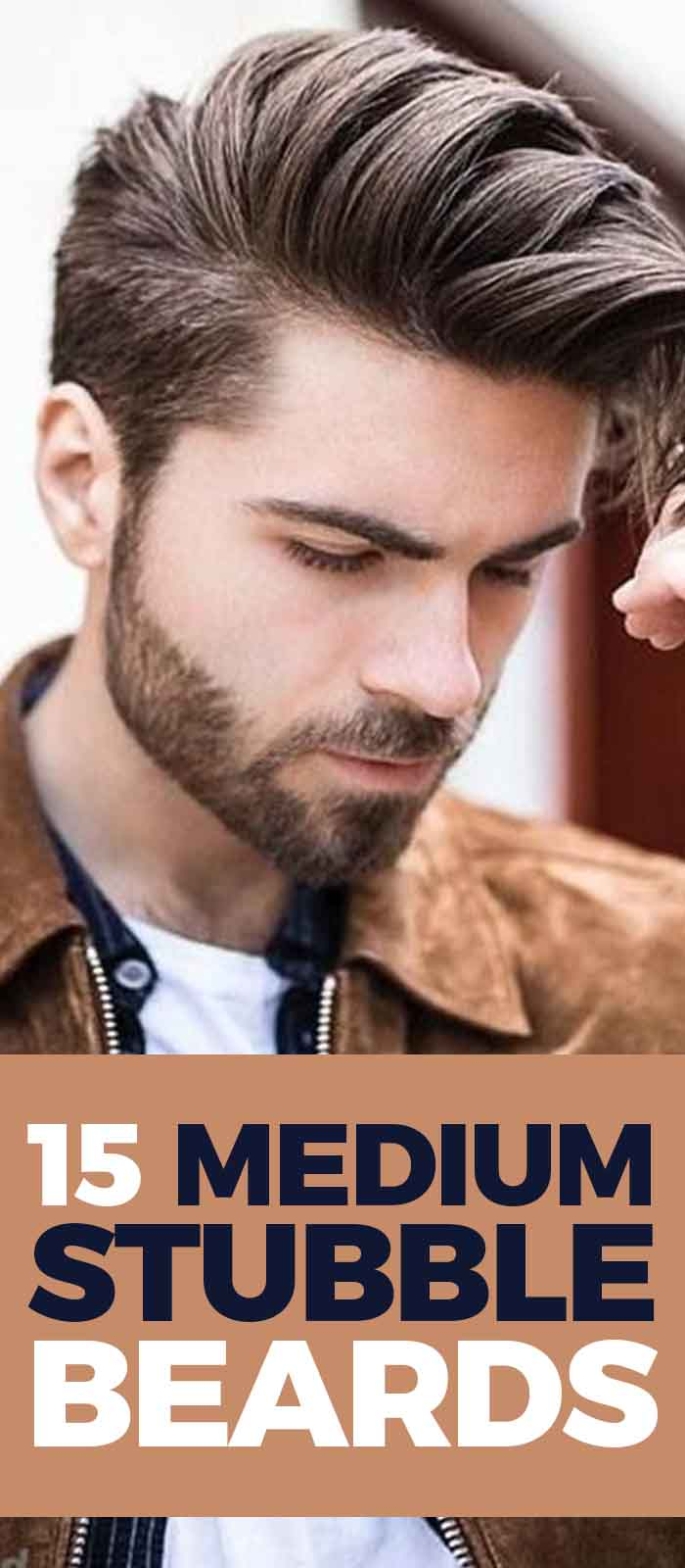 Brown Jacket Look For men With Medium Stubble Beard!