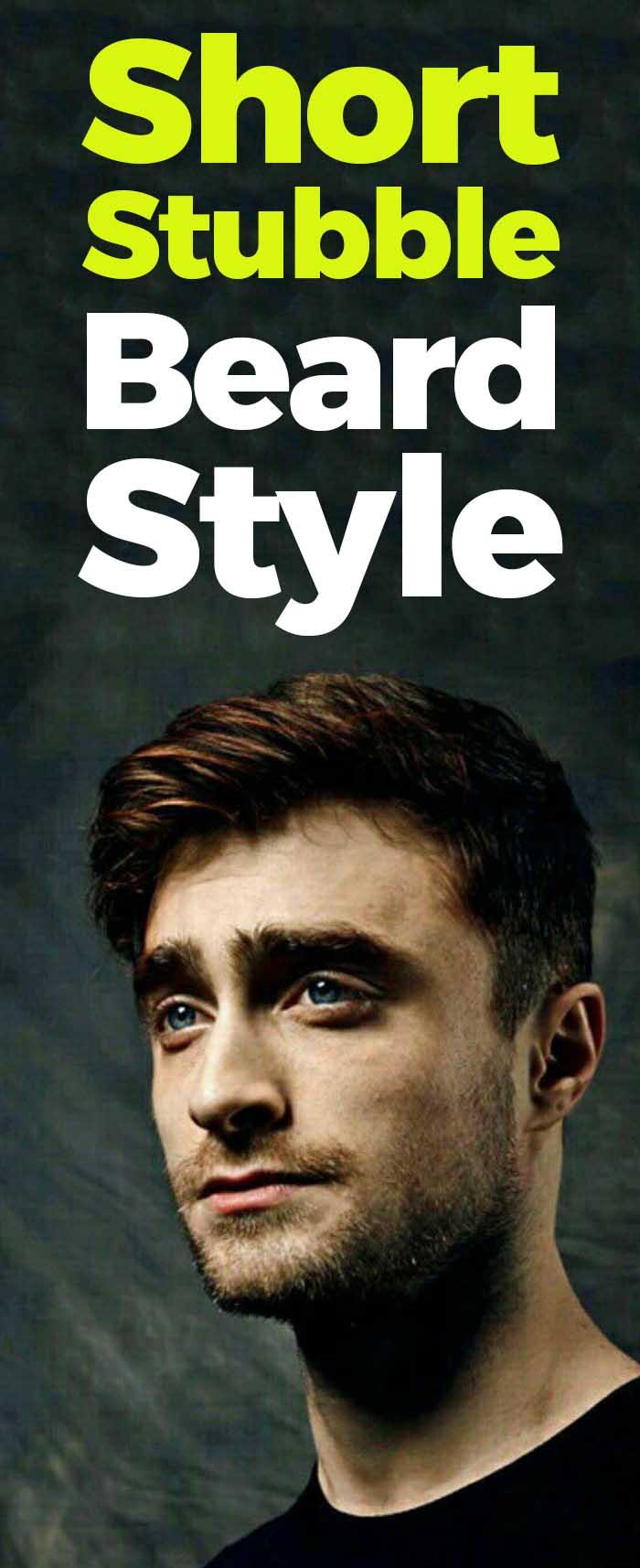 Daniel Radcliffe short beard style!