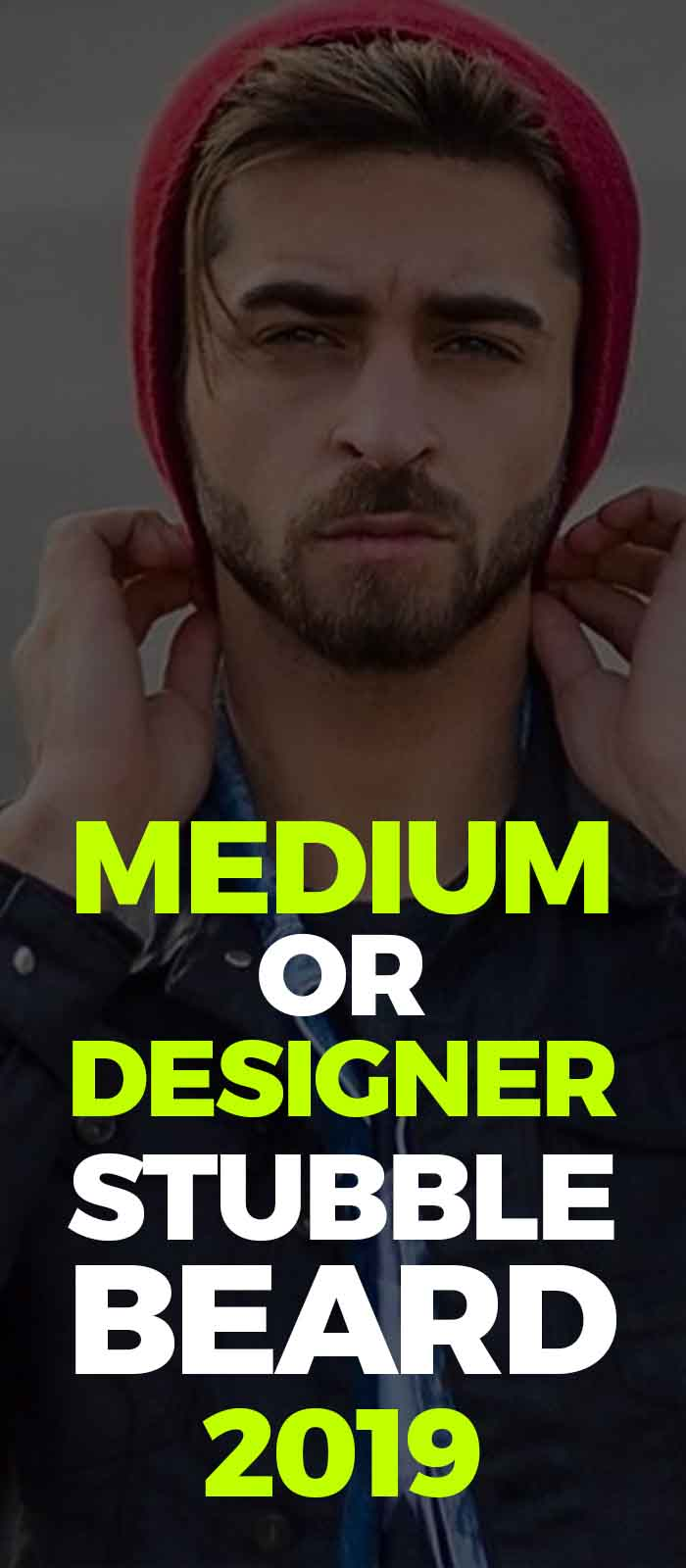 Designer stubble beard,beanie look for men!