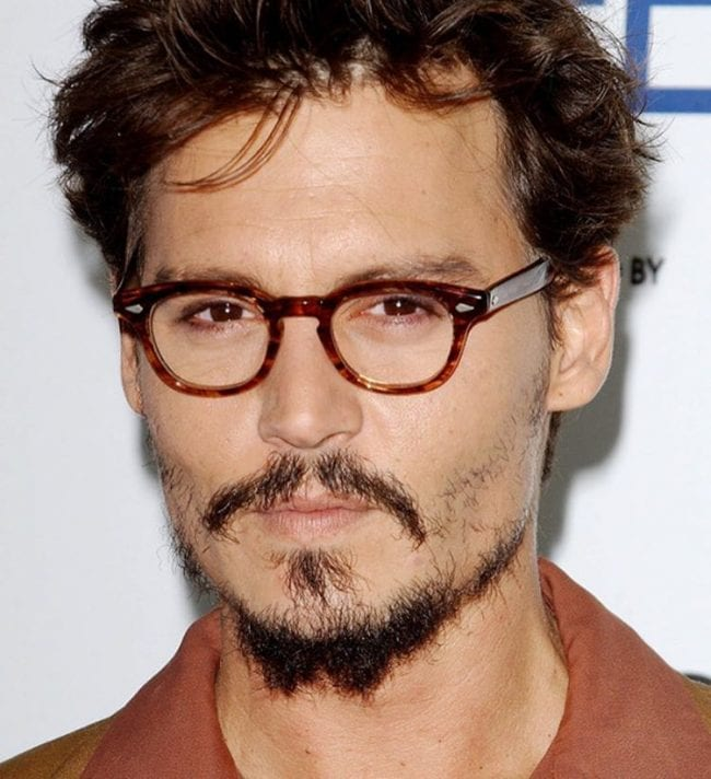 Johnny Depp patchy Beard