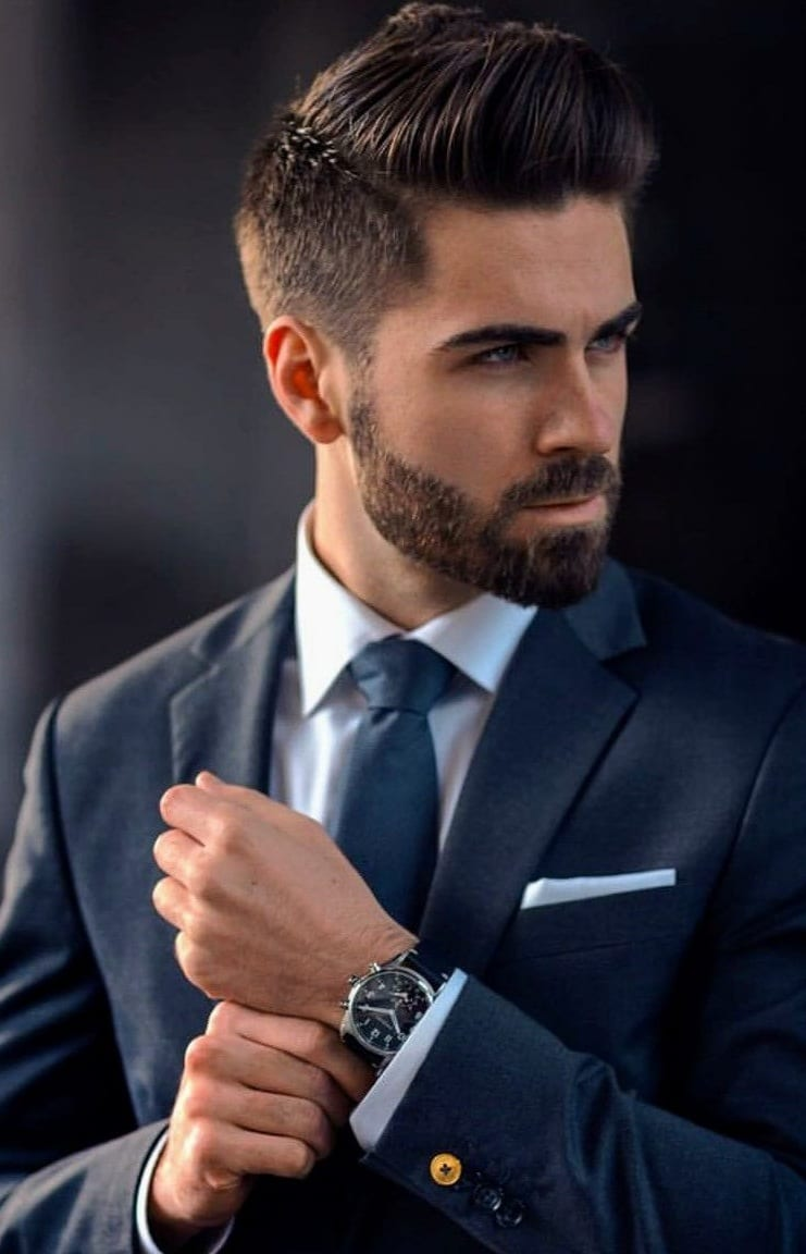 Sexy sharp short beard styles for men