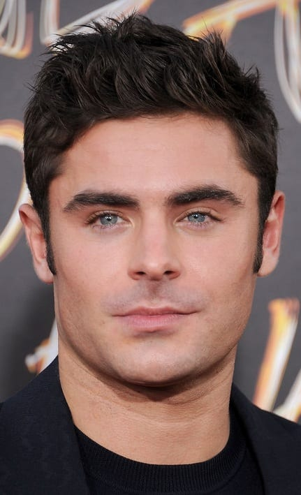 Zac Efron Clean Shaven face look