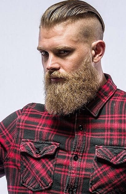 bandholz-beard-with-red-and-black-cheks-shirt