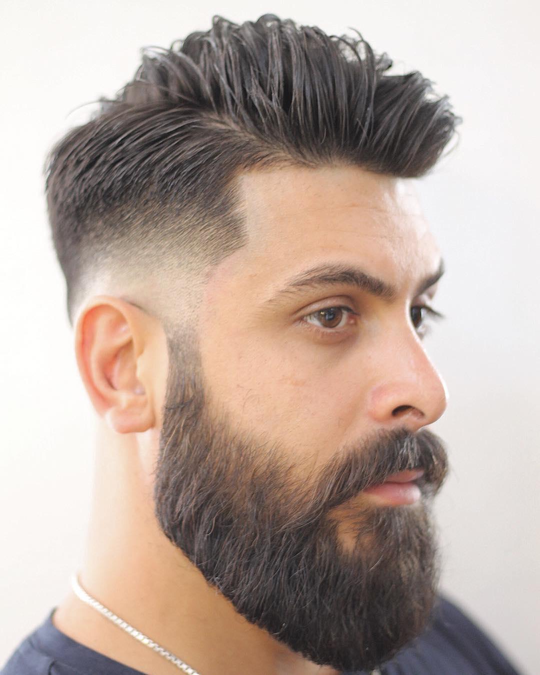 faded-hair-style-with-fuller-beard
