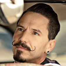 stylish trimmed perfect moustache handlebar style men