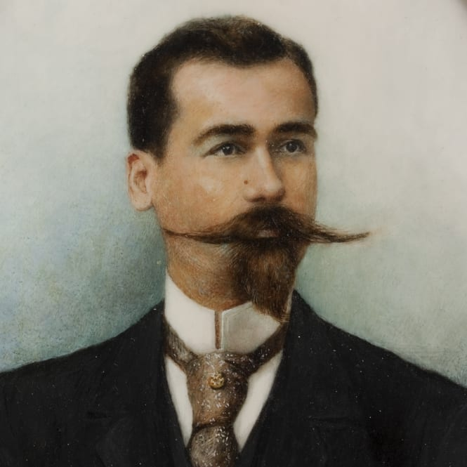 vintage style men imperial moustache