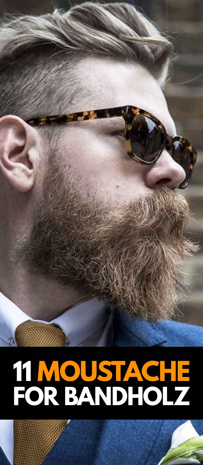 Sexy Mustache to compliment your Bandholz Beard!
