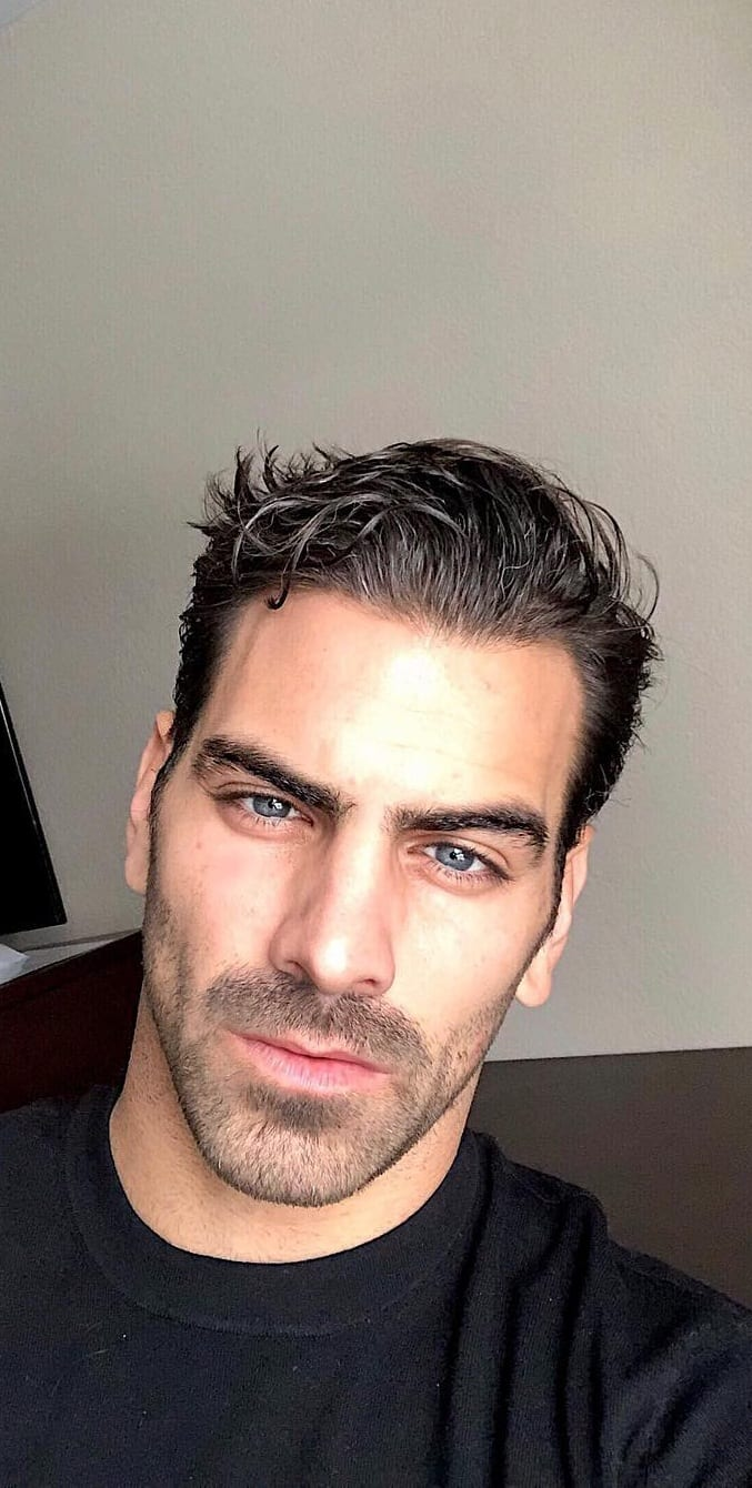 Box fade short beard style for men
