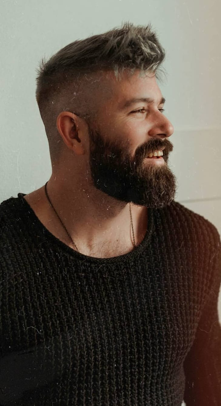 Medium beard for men in summer 2019